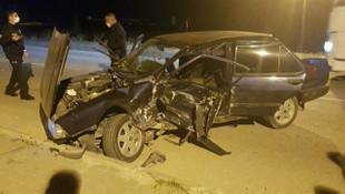 Karabük'te korkunç kaza: 2 yaralı!