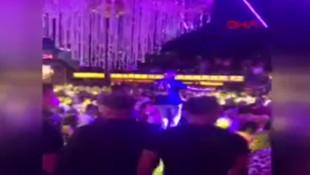 Ünlü Rapçinin Murda konserinde tepki çeken görüntüler