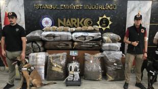 Ağır kokular gelen depoya baskın: Kilolarca uyuşturucu ele geçirildi
