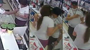 Mağaza çalışanına taciz şoku saniye saniye kamerada!