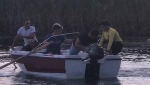 Sapanca Gölü'nde korkutan tekne yangını