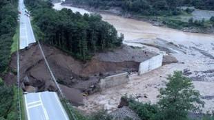 Giresun'da sel nedeniyle tonlarca fındık zarar gördü