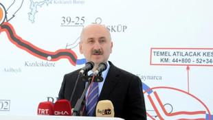 Bakan Karaismailoğlu açıkladı: İstanbul-Edirne 1 saat 20 dakikaya düşecek