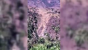 Malatya'daki deprem anında korkutan görüntü
