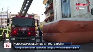 Konya'da pes dedirten görüntü! İntihar girişimi sosyal mesafeyi unutturdu