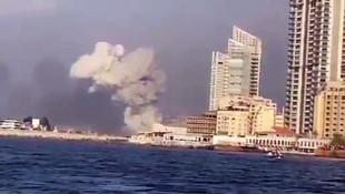 Beyrut Limanı'nda büyük patlama! Dehşetin görüntüleri; Atom bombası gibi patladı