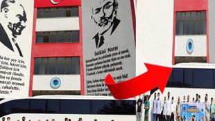 Birlik Vakfı'ndan skandal! Atatürk ve Mehmet Akif'i photoshopla sildiler