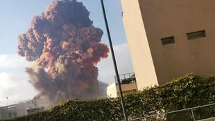 Beyrut'ta korkunç patlama! Bu görüntüleri gören inanamadı!