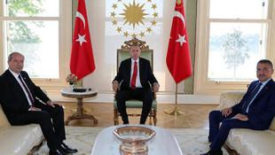 Cumhurbaşkanı Erdoğan, KKTC Başbakanı ile görüştü