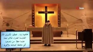 Beyrut'taki patlamada kilisede ayin yapan papazın kaçış anı kamerada
