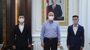 İçişleri Bakanı Soylu, şehit aileleriyle bir araya geldi