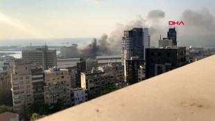 Beyrut patlamasının en net görüntüleri yayınlandı