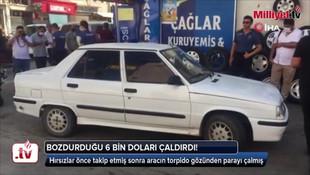 Adana'da bozdurduğu 6 bin doları çaldırdı