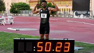 Milli Atlet Sinan Ören rekor kırdı