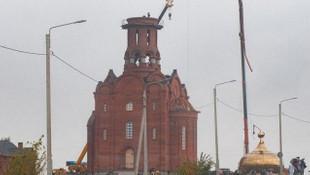 İnşaat halindeki kilisenin bir anda aşağı düştü!