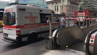 İstanbul Metrosu'nda korkunç olay! Seferler durdu