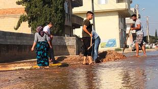 Taban suyu yükselmesi nedeniyle mahalleleri su bastı
