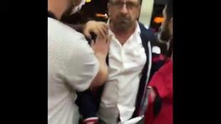Metrobüs şoförü ile kadın yolcunun kavgası kamerada!