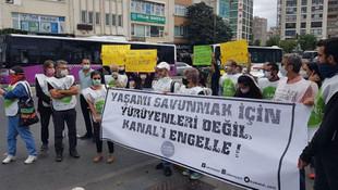 Kanal İstanbul'a ''hayır'' diyenlere polis engeli