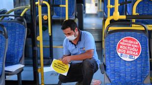 Başkent'te toplu taşımada sosyal mesafe uygulaması