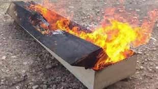 Burası Türkiye! Koronavirüsten ölen kişinin tabutu yakıldı