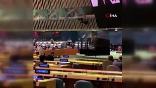 Erdoğan'ın sözleri, BM'de İsrail'in temsilcisine salonu terk ettirdi