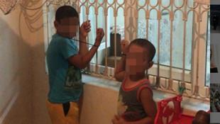 Çocukları kaçırıp, plastik kelepçeyle pencere demirine bağladı