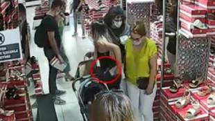Genç kadın kameralara böyle yakalandı