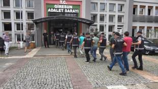 Giresun'da yıkım ekibine saldıran 9 kişi tutuklandı