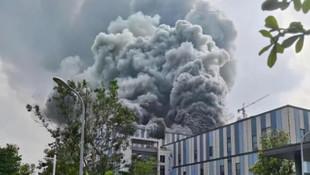Teknoloji devi Huawei'nin laboratuvarında büyük yangın!