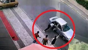 İstanbul'da güpegündüz dehşet! Genç kadını yolda sürüklediler