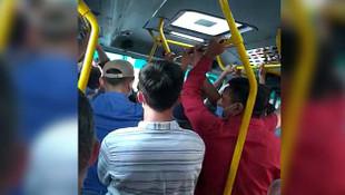 İstanbul'da koronavirüs minibüs hattı rezaleti!