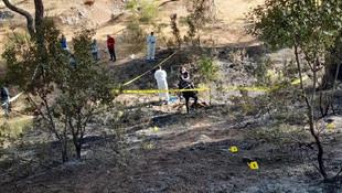 Ormanda yanmış erkek cesedi bulundu