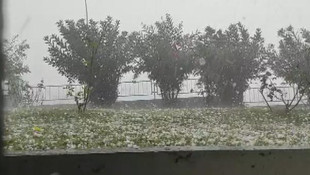 İstanbul'dan dolu ve sağanak yağış manzaraları!