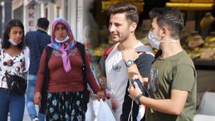 Aksaray'da vaka artışına rağmen maske takılmadığı görüldü