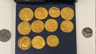 Bizans ve Roma dönemine ait tarihi sikkeler ele geçirildi