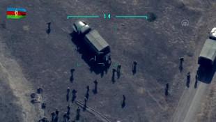 Azerbaycan ordusu, Ermeni askerlerini havaya uçurdu! İşte o anlar