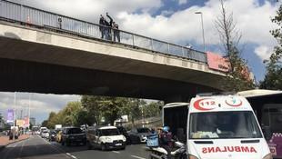 İstanbul'da trafiği kilitleyen intihar girişimi