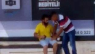 Engelli genci önce dövdü ardından gasp etti!
