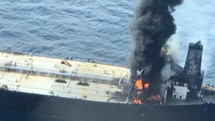 2 milyon varil petrol taşıyan tanker yandı! 1 ölü