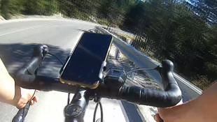 Bursalı bisikletçi ölümden böyle döndü