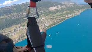 Yamaç paraşütü yapan kadına büyük şok!