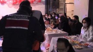 İstanbul'da lüks villaya kaçak parti baskını