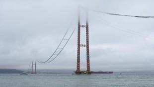 1915 Çanakkale Köprüsü'nün silüeti belli olmaya başladı