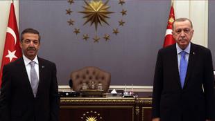 Cumhurbaşkanı Erdoğan, KKTC Dışişleri Bakanı ile görüştü