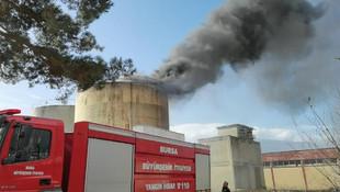 Bursa'da yıkımı yapılan fabrikada yangın