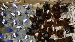 3,3 ton sahte içki ele geçirildi