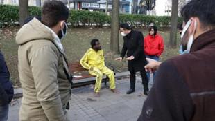 Vicdanları sızlatan görüntü! Gezi Parkı'nda tir tir titrerken bulundu