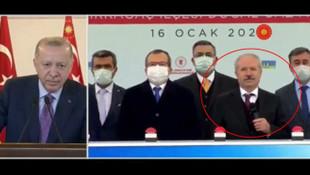 Erdoğan'ın bu hareketi olay oldu: ''Sen mikrofonu milletvekilimize ver''