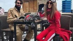 Seren Serengil sevgilisi ile kayağa gidince olan oldu
